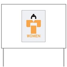 Women toilet, Japan Yard Sign