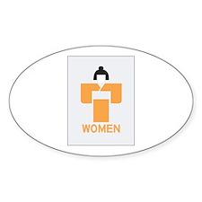 Women toilet, Japan Oval Decal