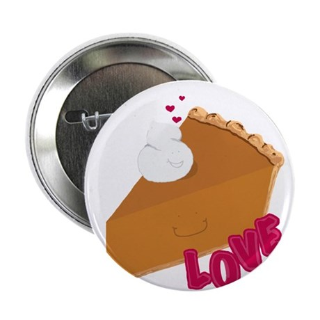 "Whipped Cream + Pumpkin Pie 2.25"" Button"