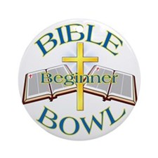 Beginner Bible Bowl Ornament (Round)