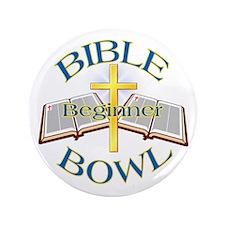 """Beginner Bible Bowl 3.5"""" Button"""