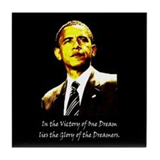 Obama Victory of a Dream Tile Coaster