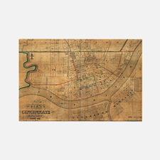 Vintage Map of Cincinnati Ohio (1838) Magnets