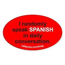 Random Spanish Oval Decal