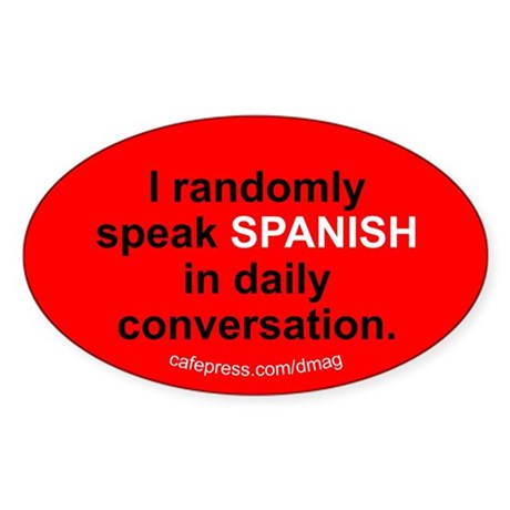 Random Spanish Oval Sticker