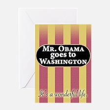 James Stewart/Barack Obama Greeting Card