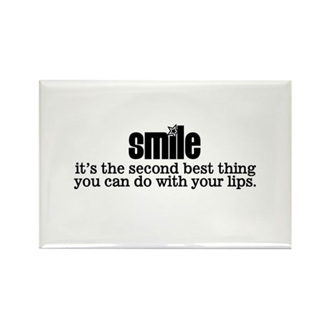 Smile Rectangle Magnet (10 pack)