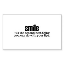 Smile Rectangle Decal