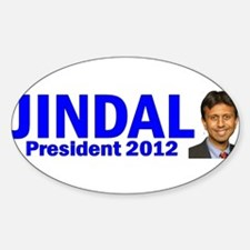Jindal for President 2012 Oval Decal