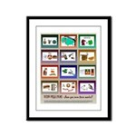 Very Puzzling rebus puzzles Framed Panel Print