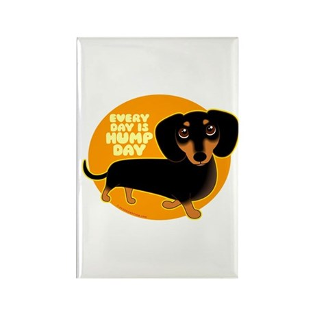 HUMP DAY Doxie Rectangle Magnet