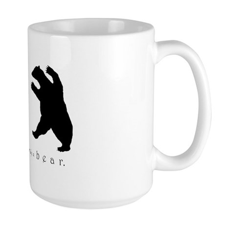 Exit, Pursued By A Bear - Large Mug