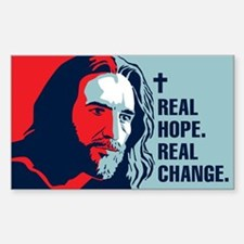 Real Hope. Real Change. Rectangle Stickers