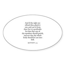 MATTHEW 5:29 Oval Decal