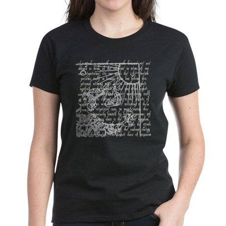 Tarot Key 0 - The Fool Women's Dark T-Shirt