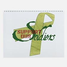 Cute Support marines Wall Calendar