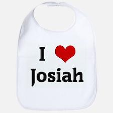 I Love Josiah Bib