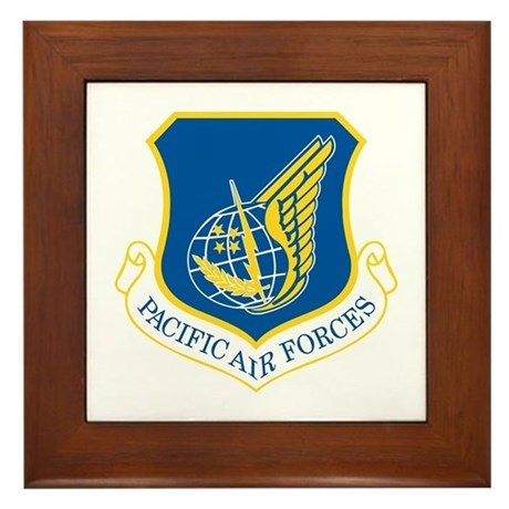 Pacific Air Forces Framed Tile