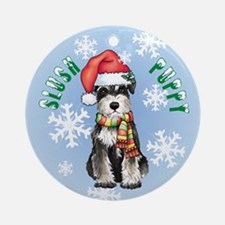 Holiday Miniature Schnauzer Ornament (Round)
