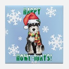 Holiday Miniature Schnauzer Tile Coaster