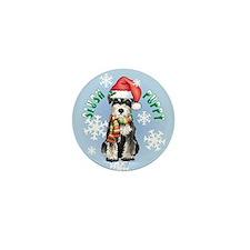 Holiday Miniature Schnauzer Mini Button