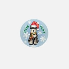 Holiday Miniature Schnauzer Mini Button