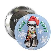 "Holiday Miniature Schnauzer 2.25"" Button (10 pack)"