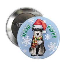 "Holiday Miniature Schnauzer 2.25"" Button"