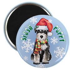 Holiday Miniature Schnauzer Magnet