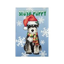 Holiday Miniature Schnauzer Rectangle Magnet