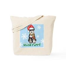 Holiday Miniature Schnauzer Tote Bag