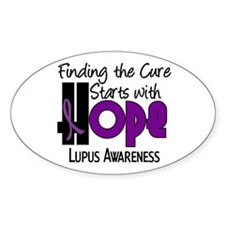 HOPE Lupus 4 Oval Decal