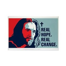 Real Hope. Real Change. Rectangle Magnet