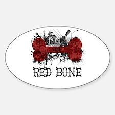 Riyah-Li Designs Red Bone Oval Decal