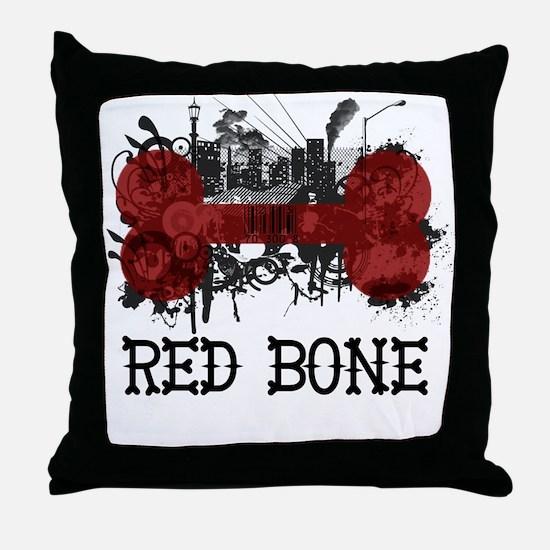 Riyah-Li Designs Red Bone Throw Pillow