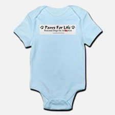 Paws for Life Logowear Infant Creeper