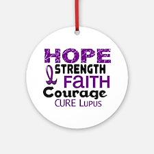 HOPE Lupus 3 Ornament (Round)