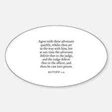 MATTHEW 5:25 Oval Decal