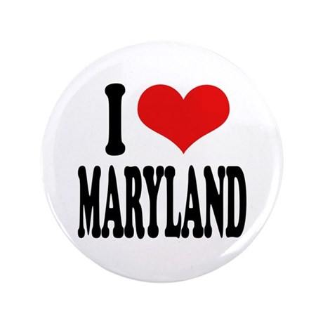 """I Love Maryland 3.5"""" Button"""