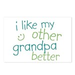 I Like My Other Grandpa Better Postcards (Package