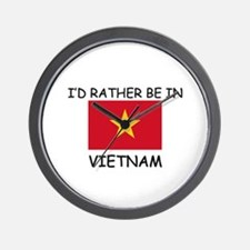 I'd rather be in Vietnam Wall Clock