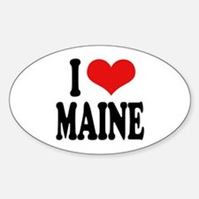 I Love Maine Oval Decal
