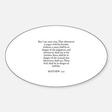 MATTHEW 5:22 Oval Decal