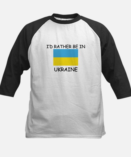 I'd rather be in Ukraine Kids Baseball Jersey