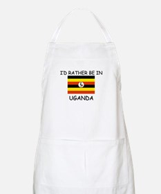 I'd rather be in Uganda BBQ Apron