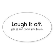 Live. Laugh. Oval Decal