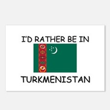 I'd rather be in Turkmenistan Postcards (Package o