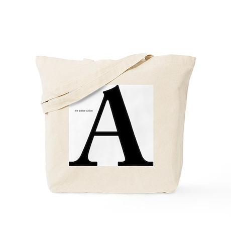 the Adobe Caslon A Tote Bag