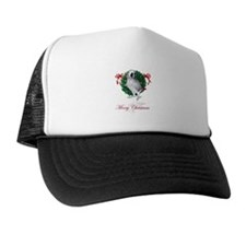 african grey christmas Trucker Hat