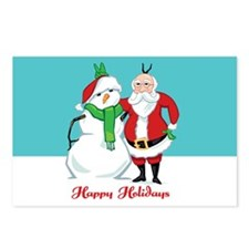 Santa Snowman Photo Postcards (Package of 8)
